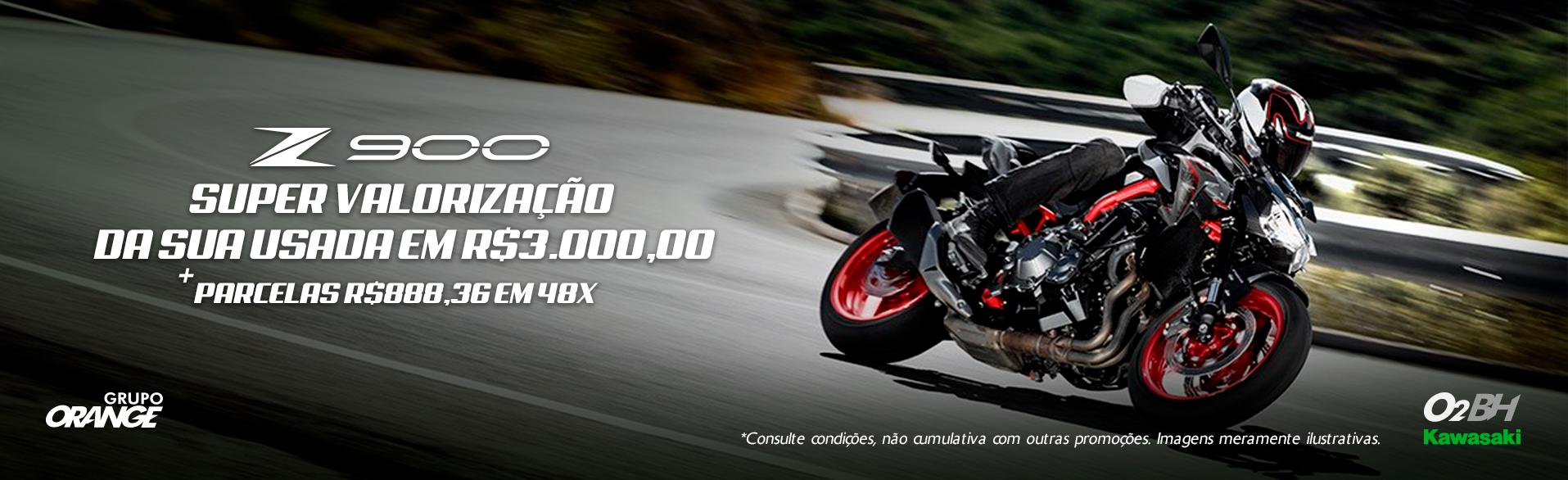 Z900 COM SUPERVALORIZAÇÃO DA USADA EM R$3.000,00