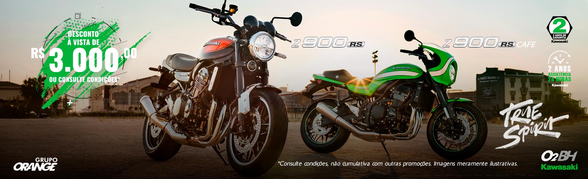 Z900 RS E Z900 RS CAFÉ DESCONTO DE R$3.000,00