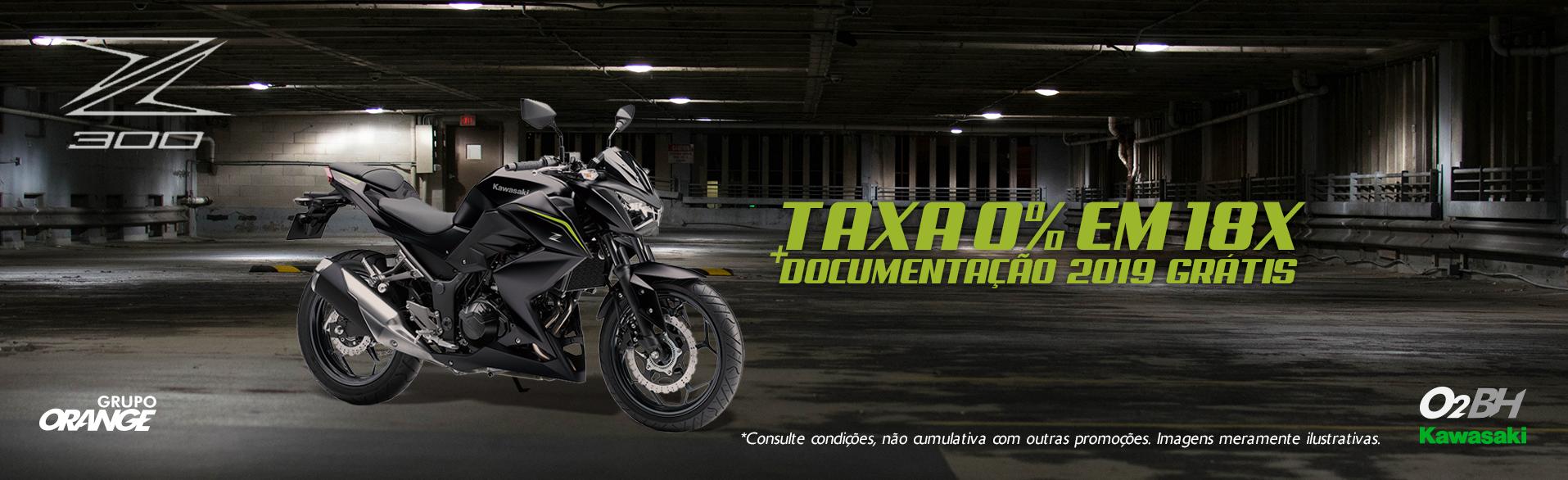 Z300 COM TAXA 0 EM 18X + DOCUMENTAÃO 2019 GRÁTIS
